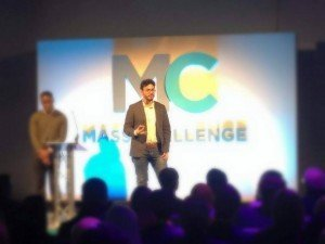 Carlos presents at Mass Challenge UK.